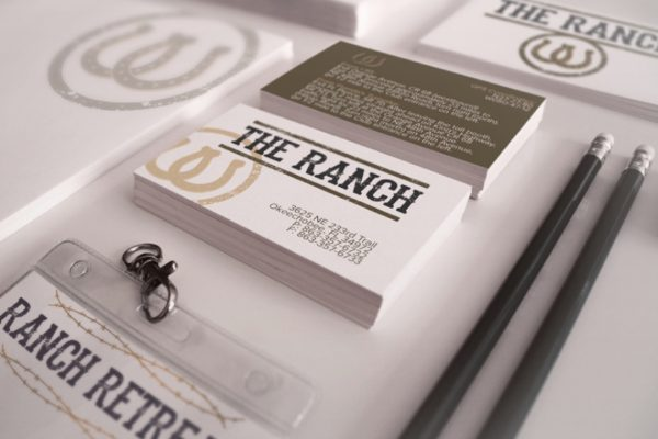 The Ranch Business Cards: Visual Creatives, West Palm Beach